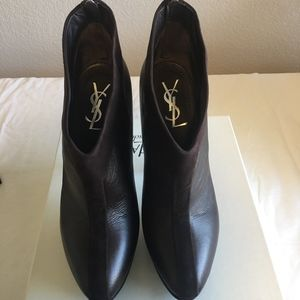 YSL Leather and Suede Easy Ankle Boot Size 39